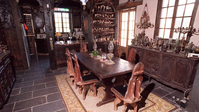 "The dining area at ""Castle Rumble"" in the 1990s"