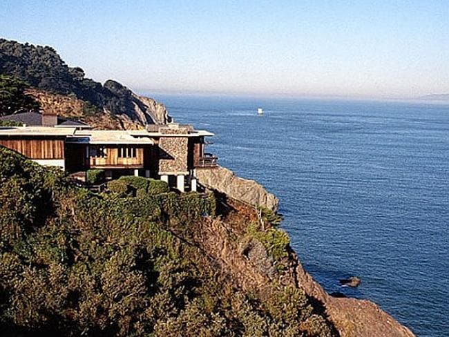 A different life ... The reported multi-million dollar home of Twitter co-founder Jack Do