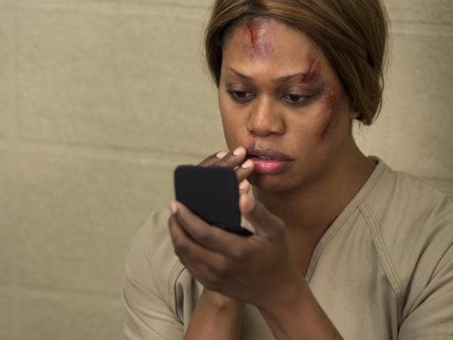 Laverne Cox plays the part of a transgender prisoner in Orange is the New Black. Source: Supplied