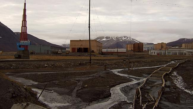 Old drab buildings are the star attraction in Pyramiden. Picture: Flicker Neil Banas