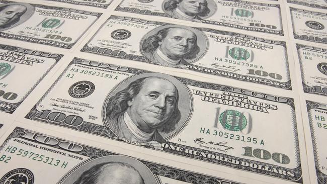 $100 US dollar notes. Picture: thinkstock