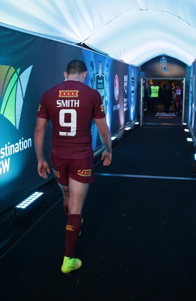 It's a long walk back to the dressing room for a dejected Cam Smith.
