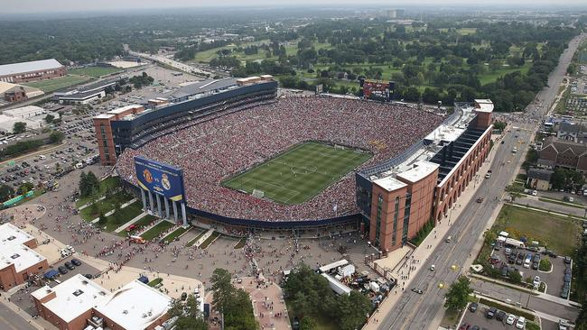 An aerial view of Michigan Stadium during the Guinness International Champions Cup.
