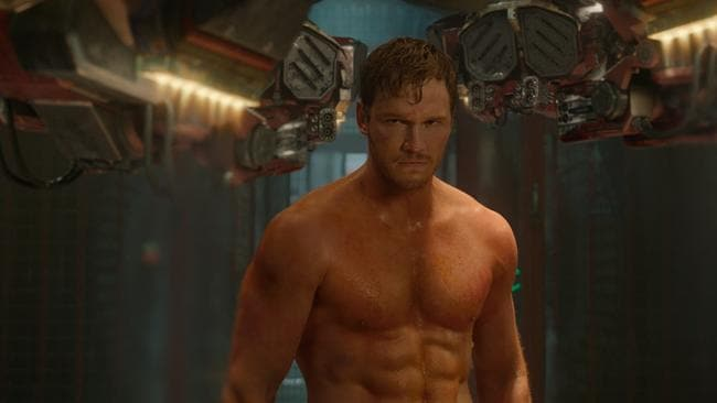 Serious sixpack ... Pratt in Guardians Of The Galaxy. Picture: Supplied