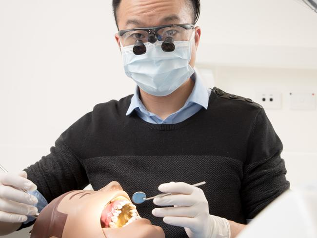 Austin Yoo is studying dentistry at the University of Adelaide. Picture: Matt Turner