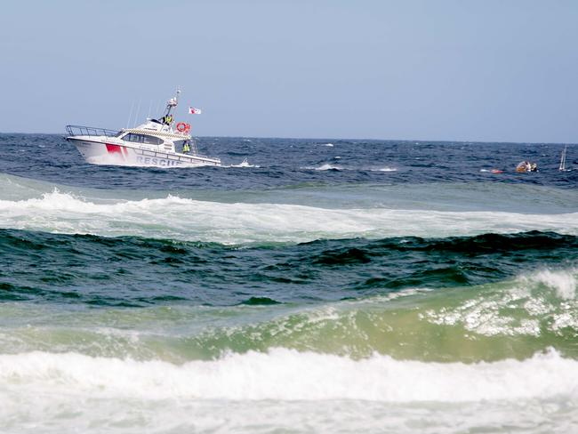 Water Police, Surf Life Saving and Marine Rescue carried out the search. Picture: Lindsay Moller