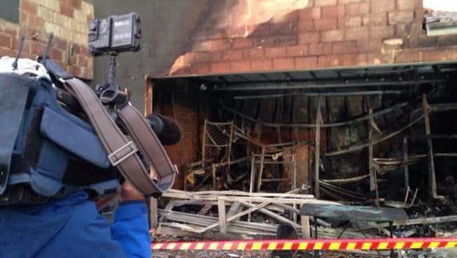 Police and fire authorities are investigating a suspected firebombing at a Doubleview home last night. Picture: Scott Cunningham/Channel Nine/Twitter