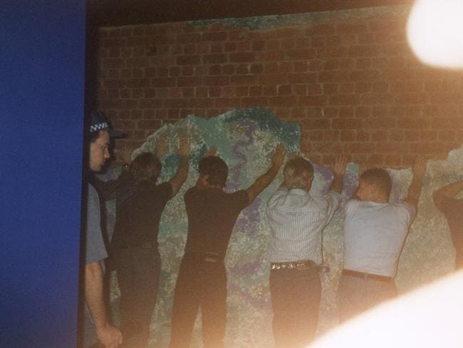 Police strip search patrons of Tasty's gay nightclub in 1994.