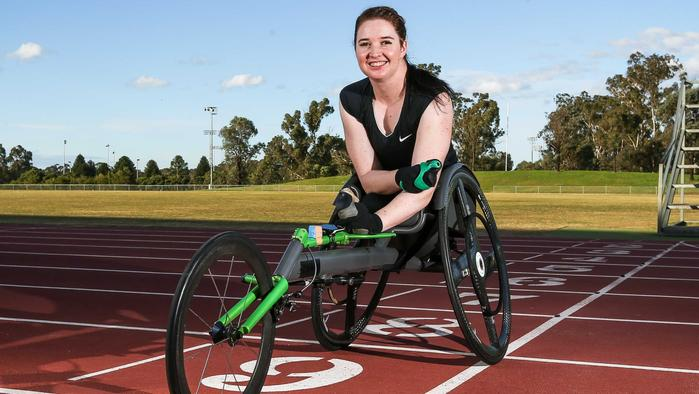 Wheelchair racing athlete Angie Ballard, of Camperdown, is preparing for the upcoming Paralympics at Rio in September.