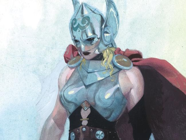 New look ... Marvel has unveiled a sketch of the new, female Thor. Picture: Marvel