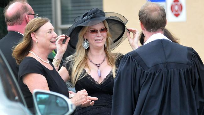 Jackie Siegel attends the memorial service of her daughter Victoria at St Luke's Methodist Church in Orlando, Florida.