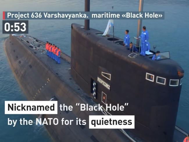 """Project 636 Varshavyanka — Russia's modern diesel electric """"Improved Kilo-class"""" attack submarines. Picture: Russian Ministry of Defense"""