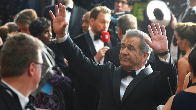 Mel Gibson arrives at the Oscars in 2017. Photo by Al Powers/Invision/AP <a capiid='b193deb104f3f6c9d9bf8c9c95db857d' class='capi-video'>Salma Hayek speaks out on 'Harvey horror'</a>