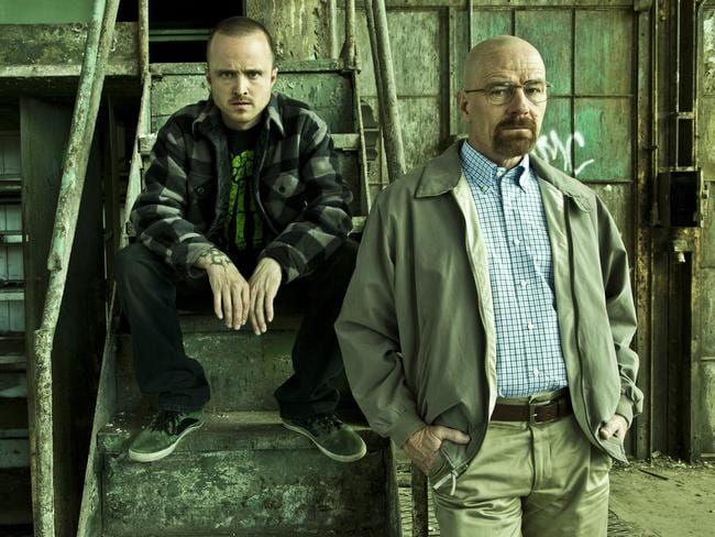 Breaking Bad ... Aaron Paul (who played Jesse Pinkman) and Bryan Cranston (Walter White) is nominated for best drama series.