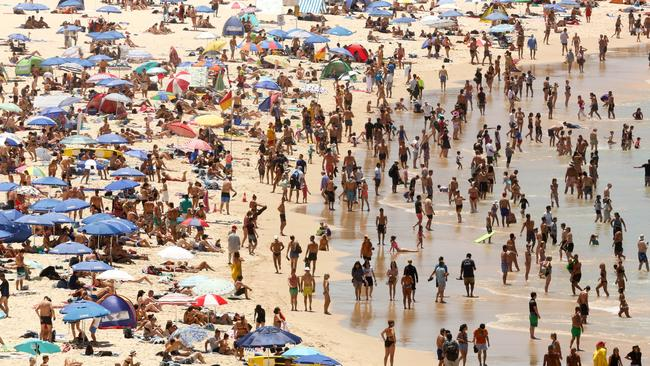 Bondi Beach. The journey for anyone not living in the eastern suburbs is similar to that time when Frodo trekked to Mordor to destroy the ring. Picture: AAP Image/Glen Campbell