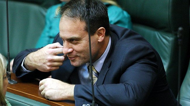 Geoff Shaw takes in Question time yesterday. Picture: Norm Oorloff