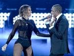 Beyonce and rapper Jay Z perform onstage during the 56th GRAMMY Awards at Staples Center on January 26, 2014 in Los Angeles, California. Picture: Getty