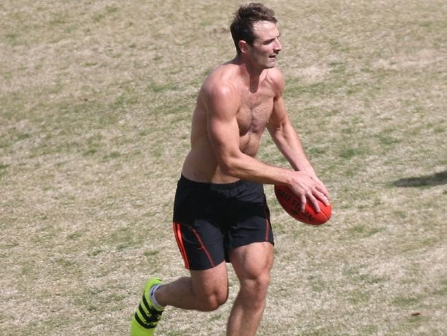 Watson keeping fit during his time out of the game.