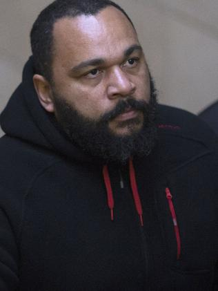 Controversial ... Dieudonne M'bala arriving for a trial at the Paris courthouse. Picture: AFP