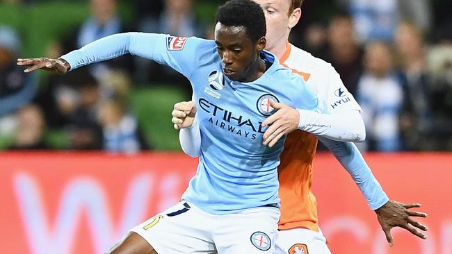 Bruce Kamau starred for City against Brisbane Roar. Picture: Getty Images