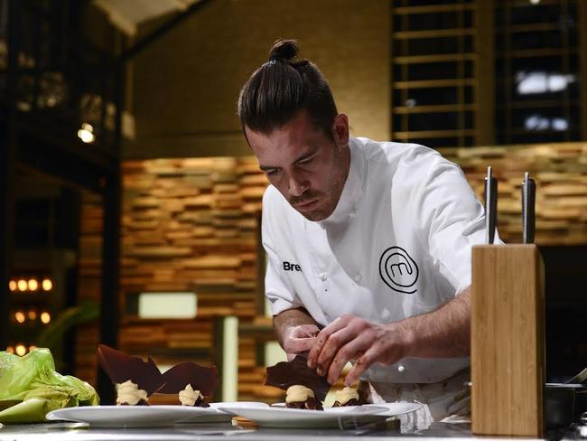MasterChef winner Brent Owens puts the finishing touches on his Ethereal Chocolate.