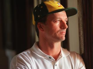 Aust cricketer Steve Waugh at Adelaide Oval 27 Oct 1997. p/