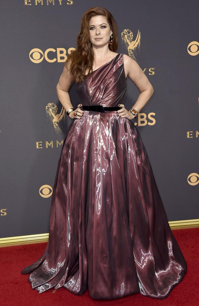 Debra Messing attends the 69th Annual Primetime Emmy Awards at Microsoft Theater on September 17, 2017 in Los Angeles. Picture: AP