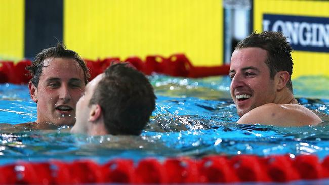 The Aussies proved too good in the 100m freestyle.