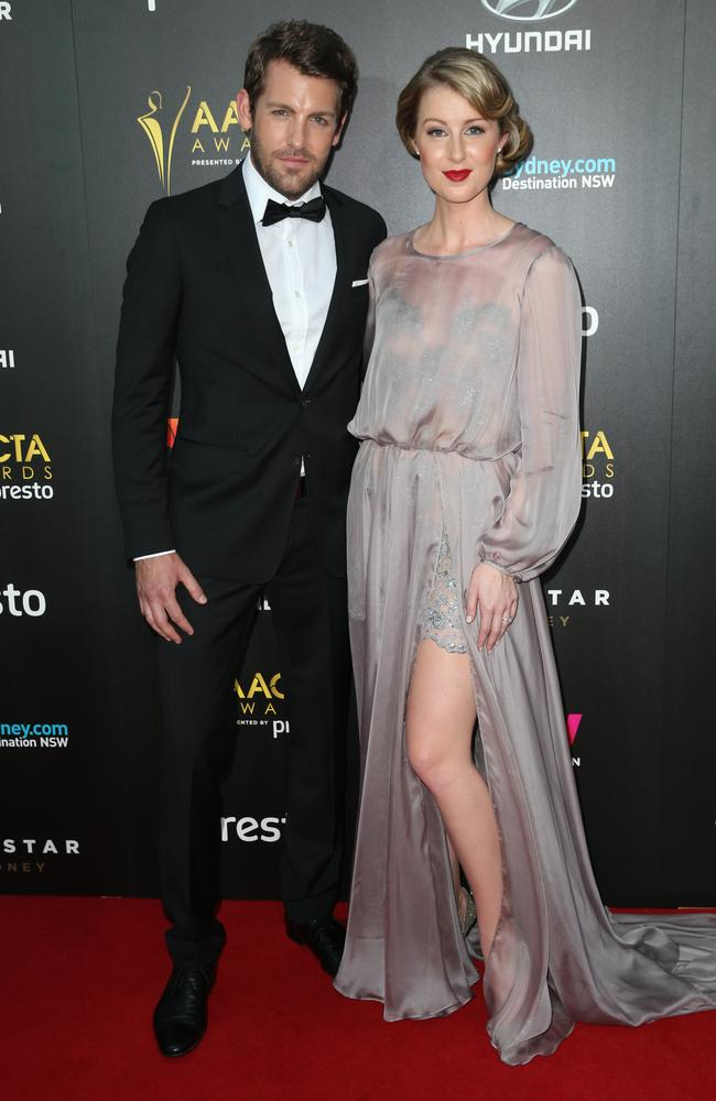 Tim Ross and Kristina Ross arrive ahead of the 5th AACTA Awards Presented by Presto at The Star on December 9, 2015 in Sydney, Australia. Picture: Richard Dobson