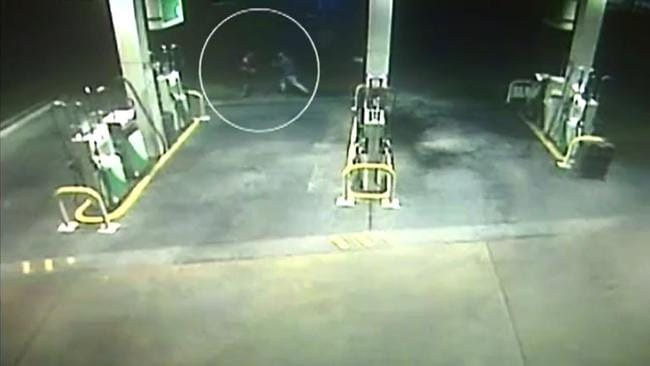 CCTV footage showing the altercation. Picture: Seven News