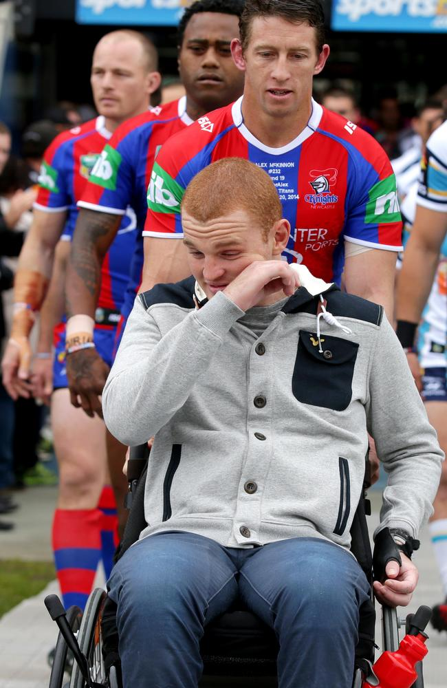 Alex McKinnon struggles to contain his emotion. Pic: Gregg Porteous