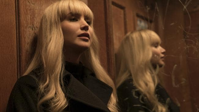 Jennifer Lawrence might also want to angrily phone her wig-wrangler from Red Sparrow. Above the eyes, it's a total fringe festival ... and no-one's linin' up for tickets.
