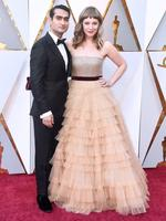 Kumail Nanjiani and Emily V. Gordon, nominees for their screenplay 'The Big Sick'. Photo: Getty
