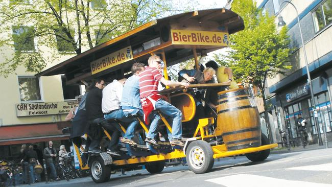 handlebars the pedal powered pubs will soon be offering tours around adelaide herald sun. Black Bedroom Furniture Sets. Home Design Ideas