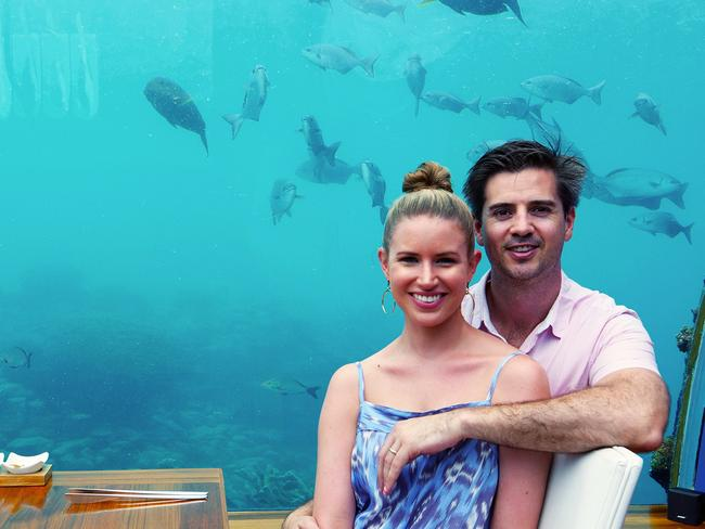 Angus and his fiance splashed out for a honeymoon in the Maldives. Picture: Angus Mead