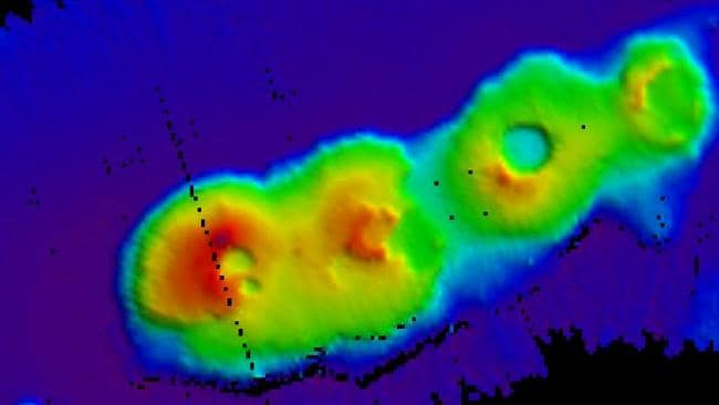 By chance ... the CSIRO discovered the volcanic cluster while performing routine mapping of the sea floor.
