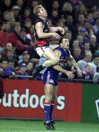 Poor Brad Johnson was no match for 173cm-tall Moorcroft.