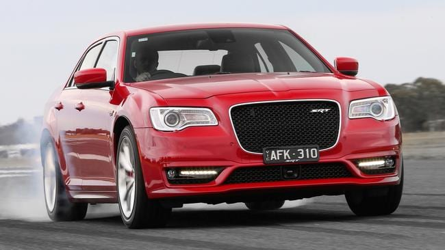 The Chrysler 300 SRT8 doesn't handle corners as well as the Holden and Ford but is one of the few options left. At least it's available with performance brakes. Picture: Supplied.