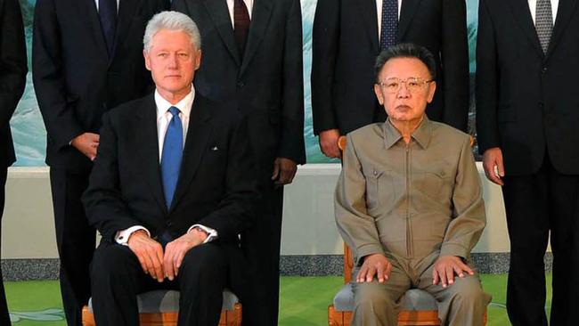 The film, released in 2012, ends with a shot of former US leader Bill Clinton, and former North Korean leader Kim Jong-il.