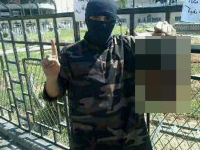 Sickening ... Abdel-Majed Abdel Bary recently tweeted a photo of himself holding up a severed head.