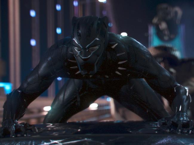 Scene from Marvel Studios' film BLACK PANTHER Black Panther/T'Challa (Chadwick Boseman) ©Marvel Studios 2018