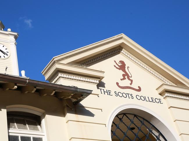 The Scots Collage in Bellevue Hill, Muck up day was yesterday and allegedly some students were drunk on the school grounds and there was an alteration with security and a number of students were arrested and up to 50 students have been suspended due to their behaviour on muck up day, Saturday, September 16, 2017.  Photo by Damian Shaw