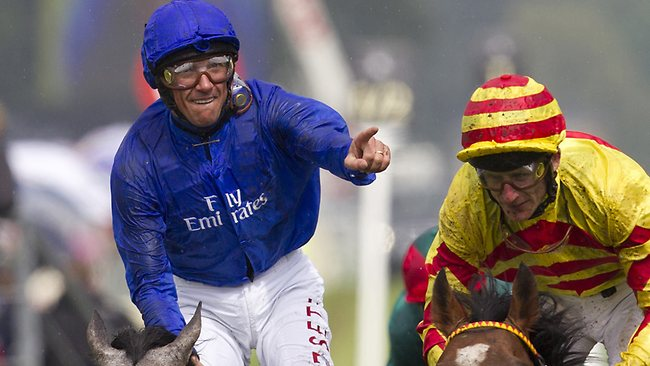 Champion jockey Frankie Dettori (left) was outed for six months after testing positive for a banned substance at Longchamp, France, in September.