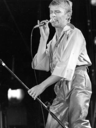 Bowie at Adelaide Oval, 11 November 1978.
