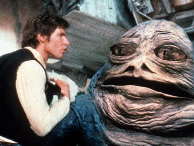 Han Solo takes issue with Jabba The Hutt in the Special Edition of Star Wars.