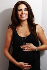 <p>Actress Ada Nicodemou who has announced she is pregnant, pictured at the Observatory Hotel. Picture: Nic Gibson</p>