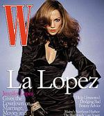 <p>Actress Jennifer Lopez is featured on the cover of the October 2003 issue of 'W Magazine'.</p>