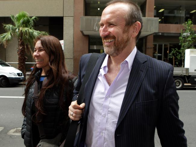 Colin Hay of band Men at Work' entering Supreme Court for the copyright hearing for the song Kookaburra.