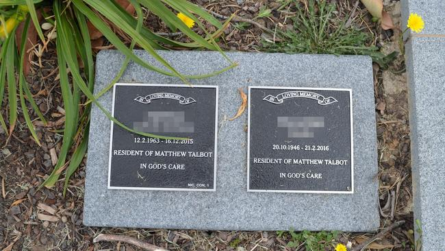 Two long term residents of a homeless shelter and best mates with no next of kin were buried together at Rookwood Cemetery in April this year. Picture: news.com.au