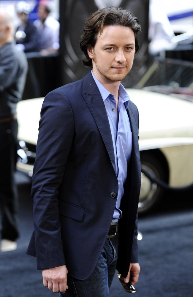 The old James McAvoy (before he started eating eight eggs for breakfast). Picture: AP